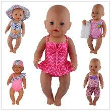 1 Pairs Bikini ubranka dla lalki nosić fit 43cm laleczka bobas ubranka dla lalki ubrania i akcesoria dla dzieci najlepszy prezent urodzinowy
