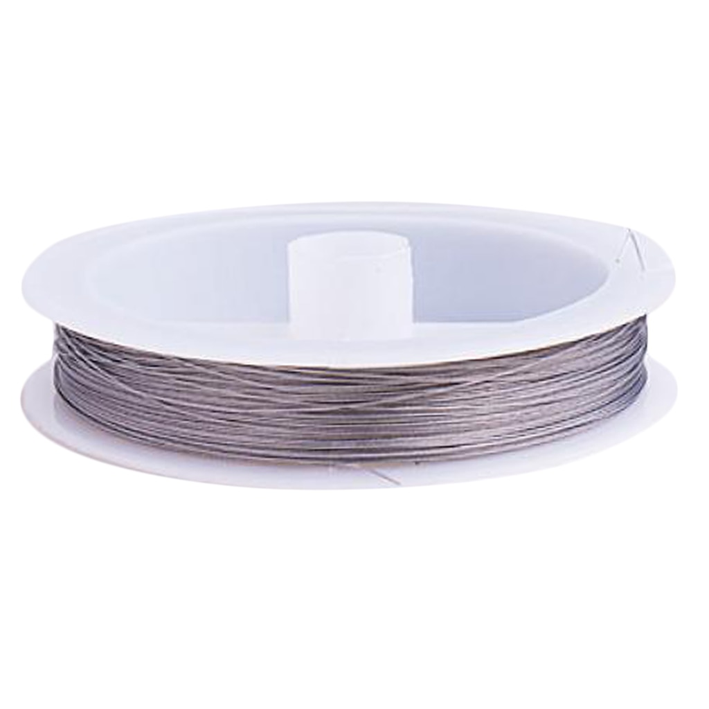 98.5 jardas tigertail fio de fio de miçangas fio fio fio cor prata forte flexível 0.3mm