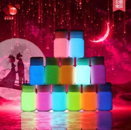 Жидкое светящееся покрытие на водной основе 20 г 13 цветов супер яркая