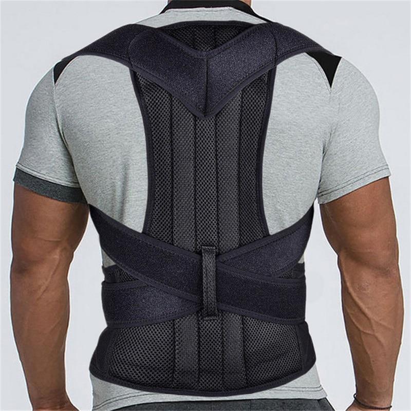 Corsé Corrector de postura ajustable para mujer, tirantes para espalda, soporte Lumbar, Corrector recto, cinturón de S-XXL