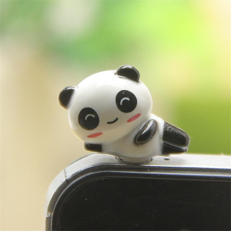 Наушники CatXaa с мультяшным животным, 3,5 мм, заглушка от пыли, Медвежья свинья, панда, 3,5 AUX, аудиоразъем, пробка для ноутбука, мобильный телефон Huawei-3