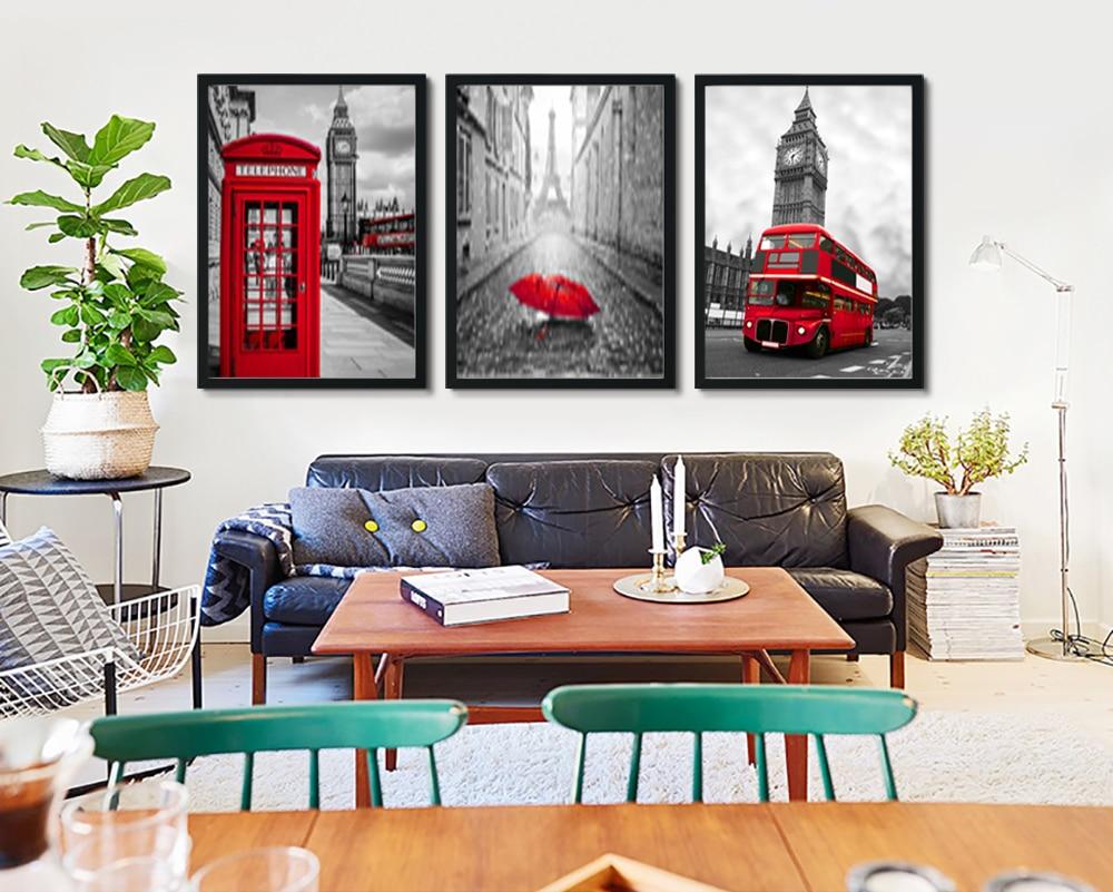 Bota telefónica Northern Europe London, arte de pared de salón, arte, imagen de hotel, decoración de fotos, pintura de decoración MM009