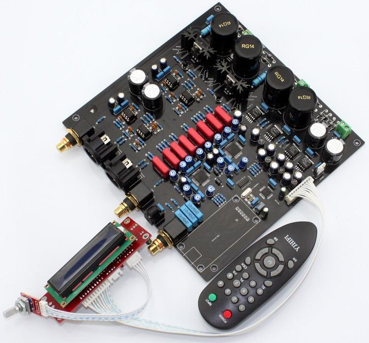 AK4497EQ * 2 + AK4118 macio controle DAC decodificador bordo com display LCD/controle Remoto (sem Chip e U8 AK4497 Daughter card)