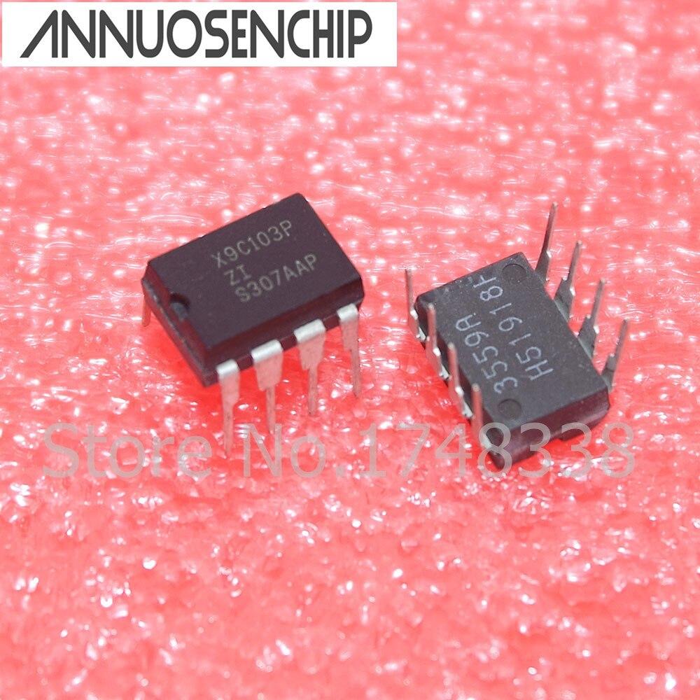 X9C103P X9C103 DIP-8 E2POT Нелетучий цифровой потенциометр Новый