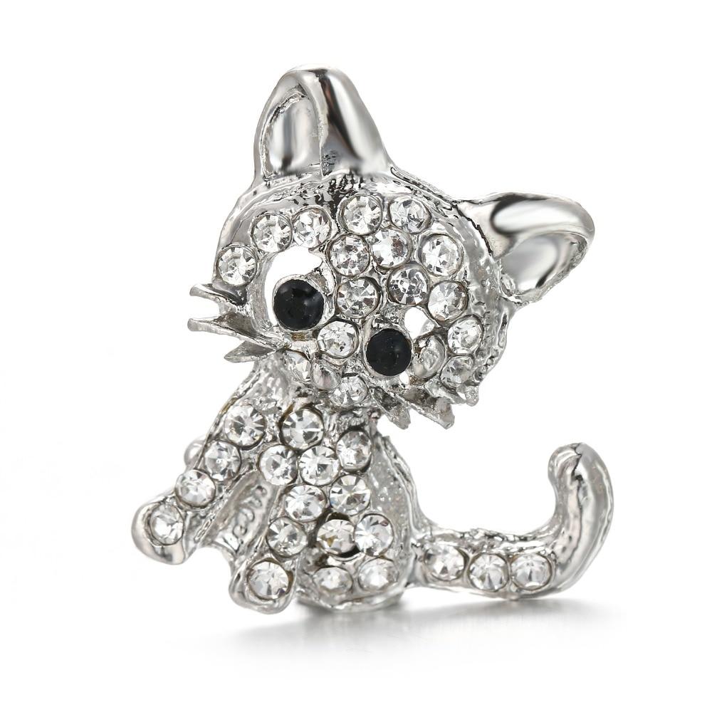 3 unids/lote, Nueva joyería a presión, botones a presión de plata con diseño de gato animal, para hacerlo tú mismo, 18mm, broches, pulsera, collar, brazalete, botón, joyería ZS012