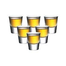 Jeu de 6 mini verres à whisky de 1 once   Verre à liqueur, sans plomb fait machine, verres à liqueur, 30ml