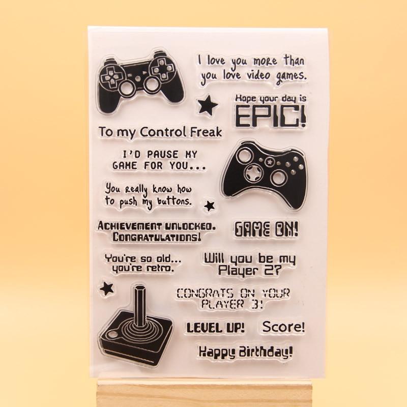 KLJUYP игра на прозрачных штампах скрапбукинга бумаги ремесло чистый штамп Скрапбукинг 332