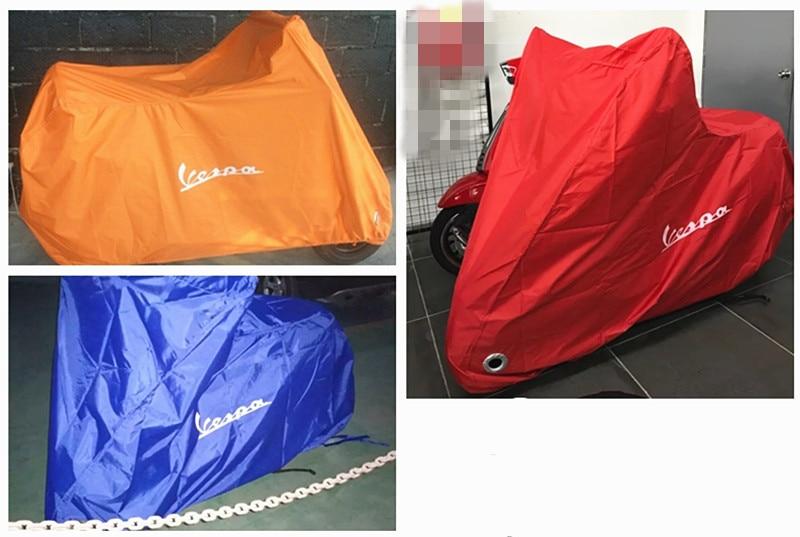 ل فيسبا سكوتر غطاء دراجة نارية مقاوم للماء في الأماكن المغلقة غطاء غبار المطر LX 50 125 LXV 150 الرياضة GTS250 300
