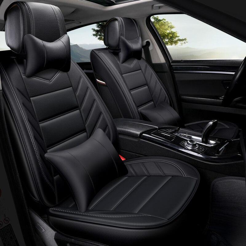 Cubierta de asiento de cuero pu fundas de asientos de automóvil para VW Amarok Bora CC Golf Variant Santana t-roc jetta 4 6 mk5 mk6 tizan L Touareg