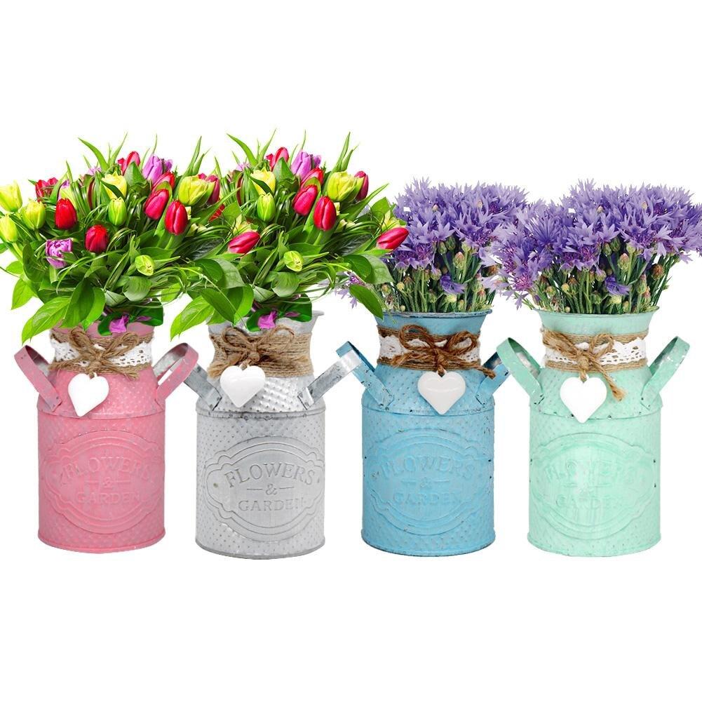 シンプルなヴィンテージ鉄植木鉢バケット収納バレル模擬庭の植木鉢花瓶多肉植物バレル家の装飾
