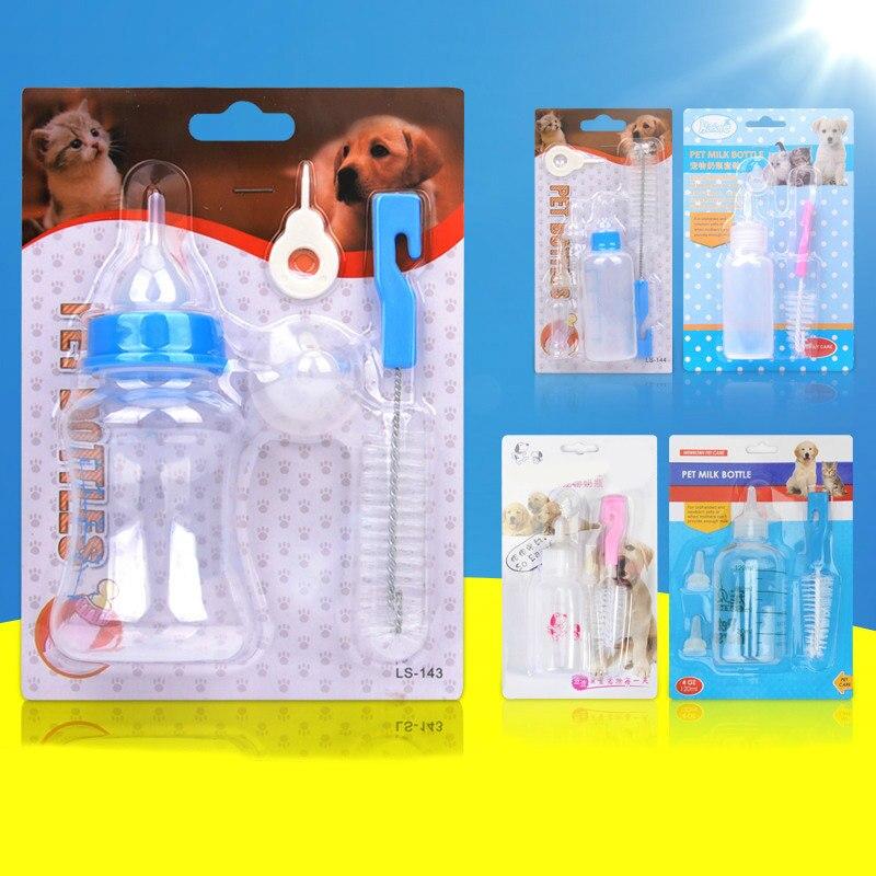 Alimentador de leche de agua para perros y gatos, cepillo de limpieza portátil de 60/120/150ML, botella de alimentación para perros y gatos, productos para mascotas