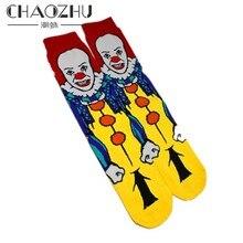 CHAOZHU coton hommes chaussettes nouveau 2019 anime japonais clown personnage dessin animé film tube équipage chaussettes pour hommes drôle