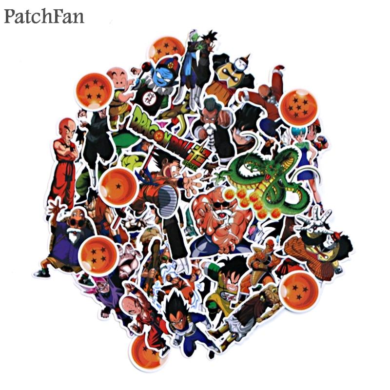 Patchfan 56 Uds Dragon ball z juguetes de historieta para niños pegatina para álbum de recortes DIY álbum equipaje portátil teléfono pegatinas para ordenadores portátiles pegatina A1527