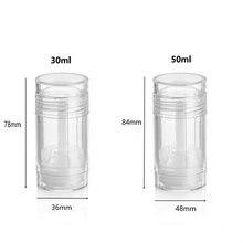 30 ml 50 ml Recyclable Twist-up bricolage comme contenants de bâton de déodorant clair vide, Tubes de déodorant avec remplissage du fond pour les soins du corps
