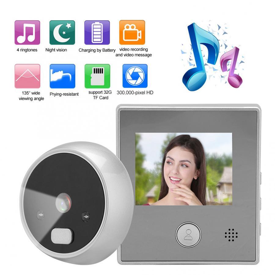 2,8 pulgadas TFT pantalla puerta Cámara timbre inteligente puerta electrónica Visor de puerta sistema de seguridad hogar timbre
