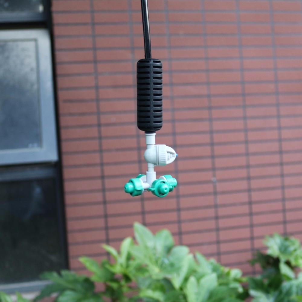 10 juegos de nebulizadores de Cross Misting Hanging kits de riego rociador de agua nebulizada para riego de invernadero de jardín 1/4 ''accesorios de manguera