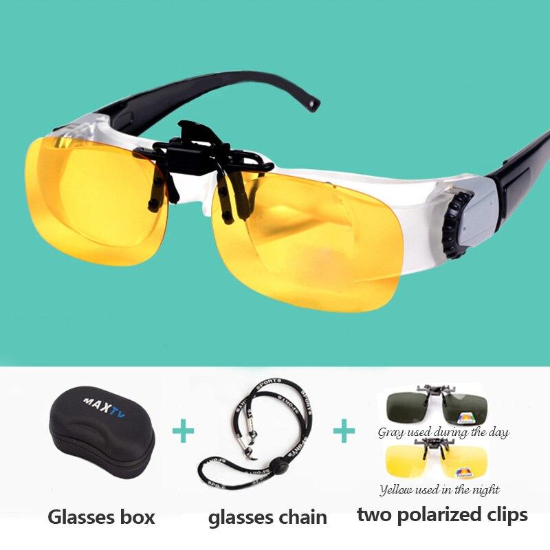 Portátil Pesca Envidraçada Full Frame de Vidro Lupa Telescópio Binóculos Óculos Ao Ar Livre Óculos Polarizados Acessórios T45