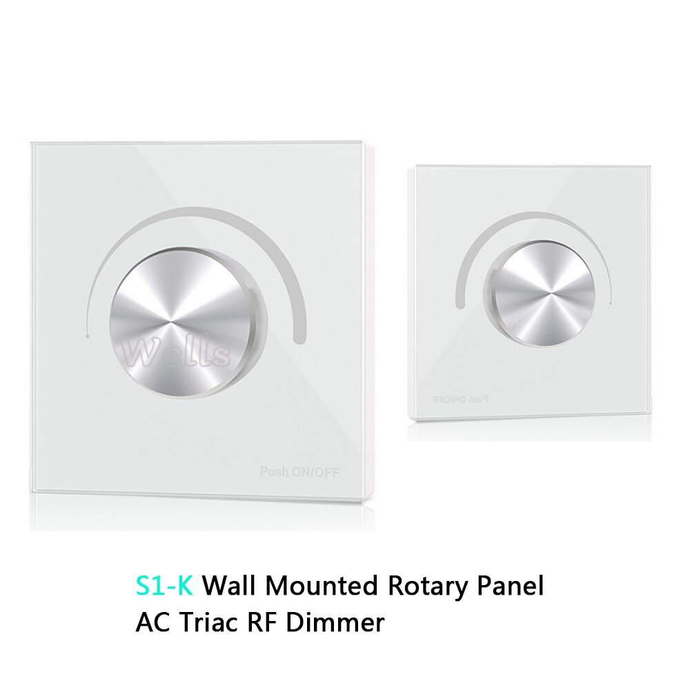 S1-K High Voltage Wall Mounted Rotary Panel 100V-240VAC Trailing Edge Dimming AC Triac RF LED Dimmer Panel Controller