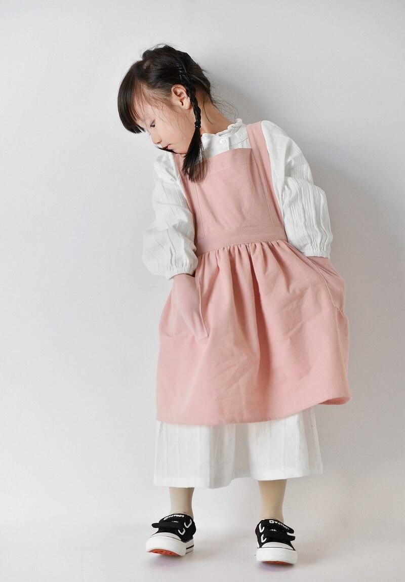 2018 новая детская юбка фартуки простая моющаяся хлопковая форма фартук в стиле