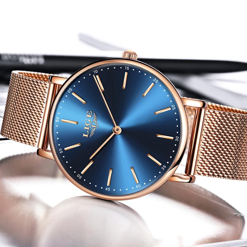 Relogio Feminino Women Watches LIGE Top Brand Luxury Ladies Casual Fashion Watch Ladies Waterproof Quartz Watch Zegarek Damski enlarge