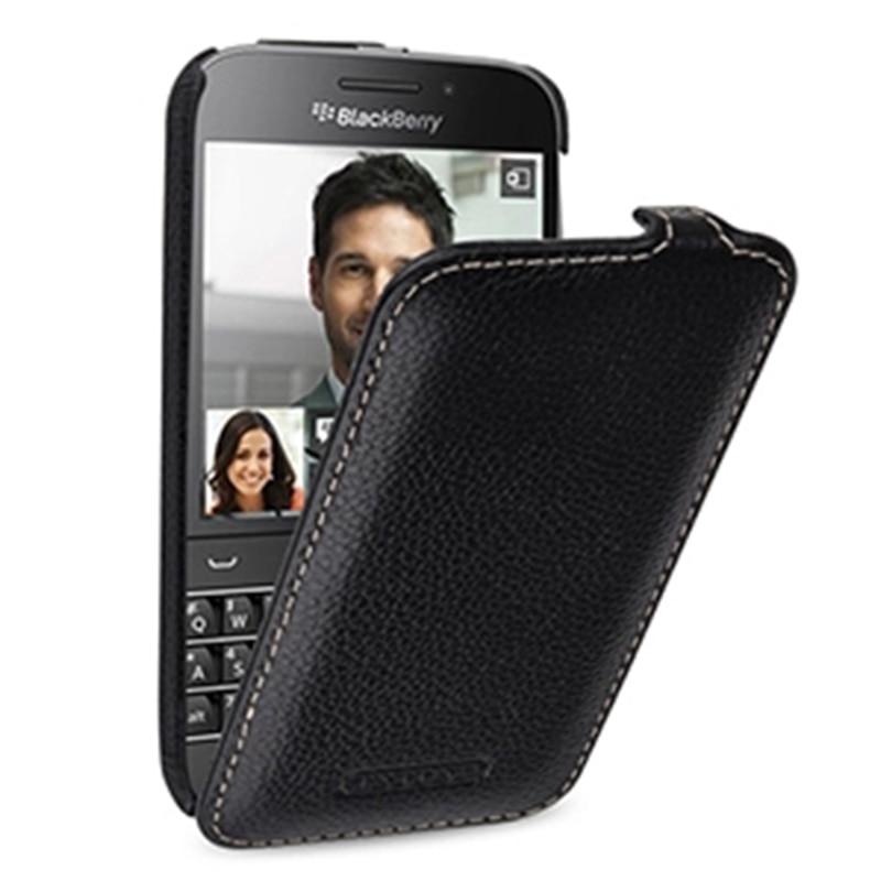 Fundas del teléfono con tapa hacia arriba para Blackberry Classic Q20 funda protectora de cuero genuino para BB Classic Q20