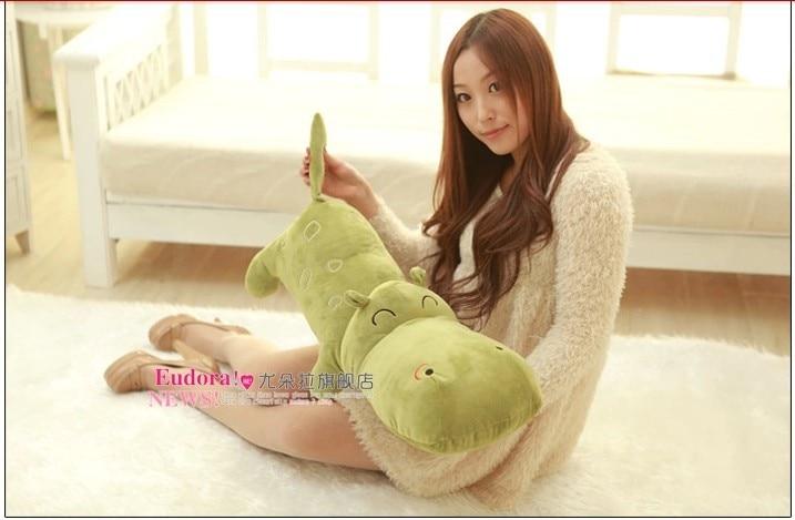 stuffed animal hippo green plush toy about 140cm doll 55 inch Hippopotamus toy throw pillow cushion toy t726