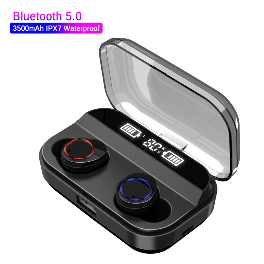 Para IOS Android Millet TWS auriculares inalámbricos Bluetooth 5,0 manos libres auténticos auriculares estéreo 3500mAh auriculares deportivos de carga