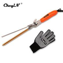 110-240V 9MM Hair Curler Curling Iron Wand Deep Curly Hair Styler Curls Professional Deep wave Spiral Roller + Gift Glove P47