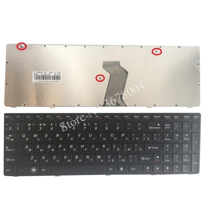 Русская клавиатура для Lenovo G580 Z580 Z580A G585 Z585 RU черная рамка Клавиатура для ноутбука