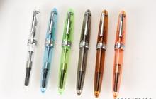 Stylo plume couleur transparente 0.5mm fine Iraurita tête résine corps Signature Jinhao 992 papeterie bureau fournitures scolaires