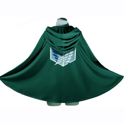 On Sale Anime Attack on Titan Cloak Shingeki no Kyojin Scouting Legion Aren / Levi Capes Cosplay Costume