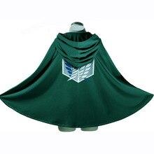 In vendita Anime Attack On Titan mantello Shingeki no Kyojin Scouting Legion are/Levi Capes Costume Cosplay