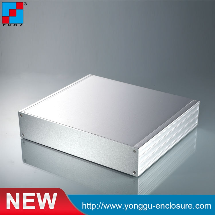 هيكل مضخم DAC مصنوع من الألومنيوم ، 270 × 56 × 235 مم (w * h * l) ، هيكل من الألومنيوم الصناعي DIY