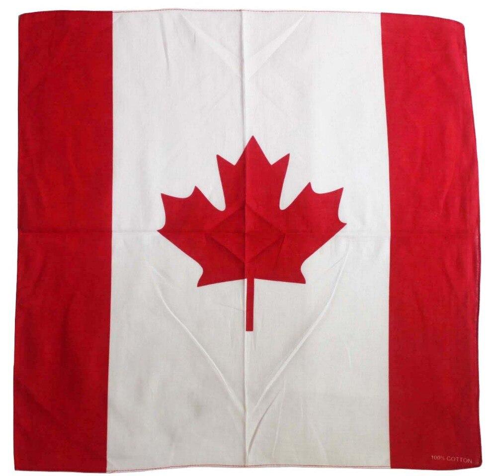 Envío Gratis 2019 nueva moda de algodón de la bandera de Canadá pañuelo sombrero de la bufanda de la cabeza