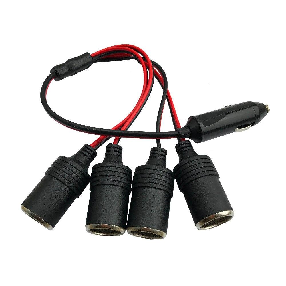 4 гнезда прикуривателя Автомобильное зарядное устройство 5А зарядное устройство адаптер от 1 до 4 способ гнездо сплиттер гнездо разъем адапт...