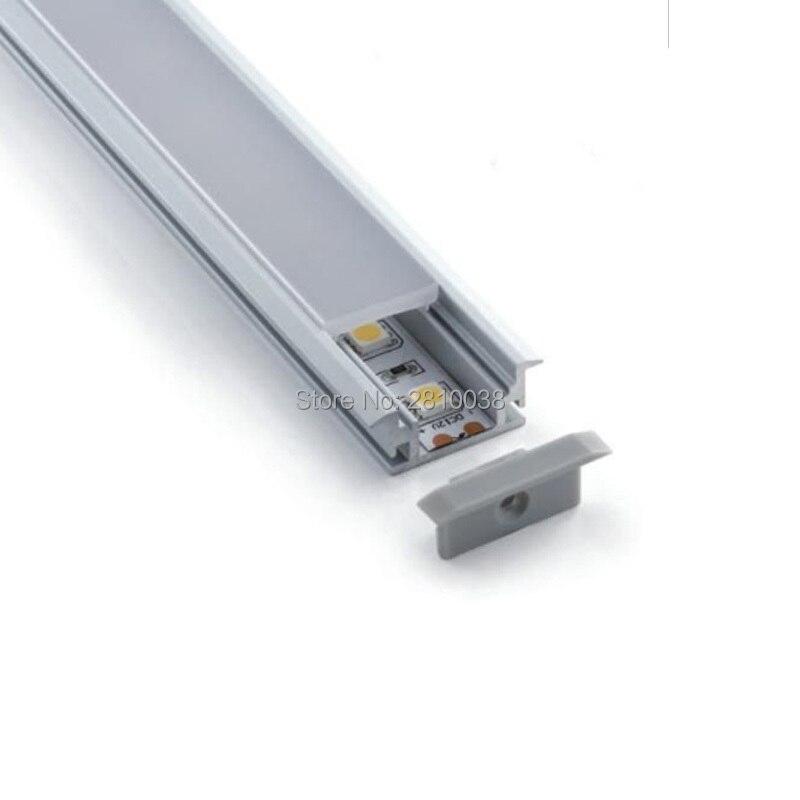 20X1 M conjuntos/lote Al6063 lineal brida led de aluminio de perfil y T estilo led de aluminio de extrusión de carcasas de para luz de suelo