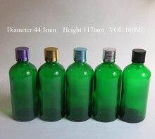 wholesale 50 Pcs 100 ml glass essential oil bottle ,glass dropper Essential oil bottle , 100ml aromatherapy green glass bottles