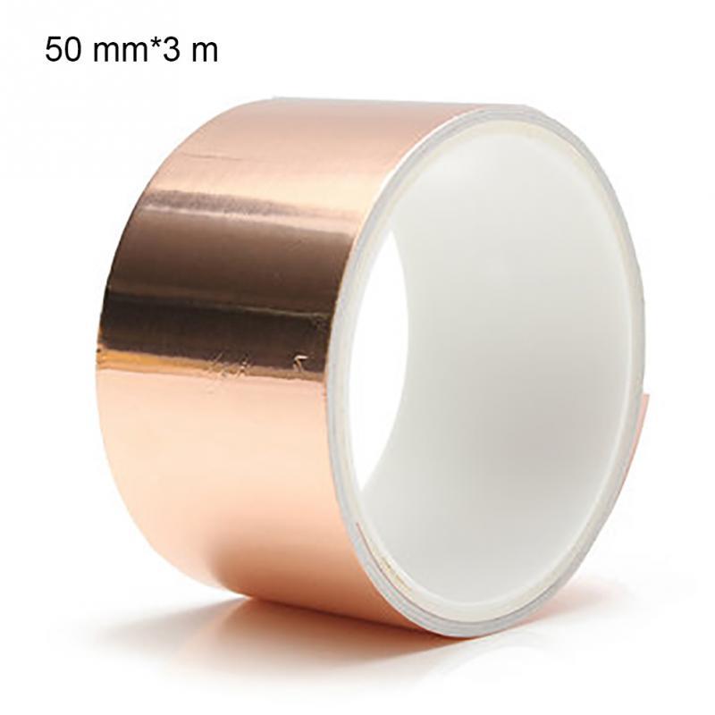 Cinta de lámina de cobre de guitarra 3m * 50mm barrera de protección EMI cinta de lámina de cobre conductora accesorio de guitarra eléctrica
