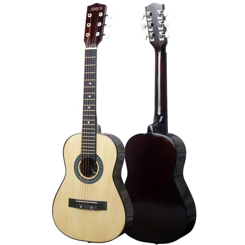 Guitarra acústica de 30 pulgadas soundtrack Guitarar 6 cuerdas de calidad haya guitarra de principiante para niños juguetes educativos regalo de cumpleaños