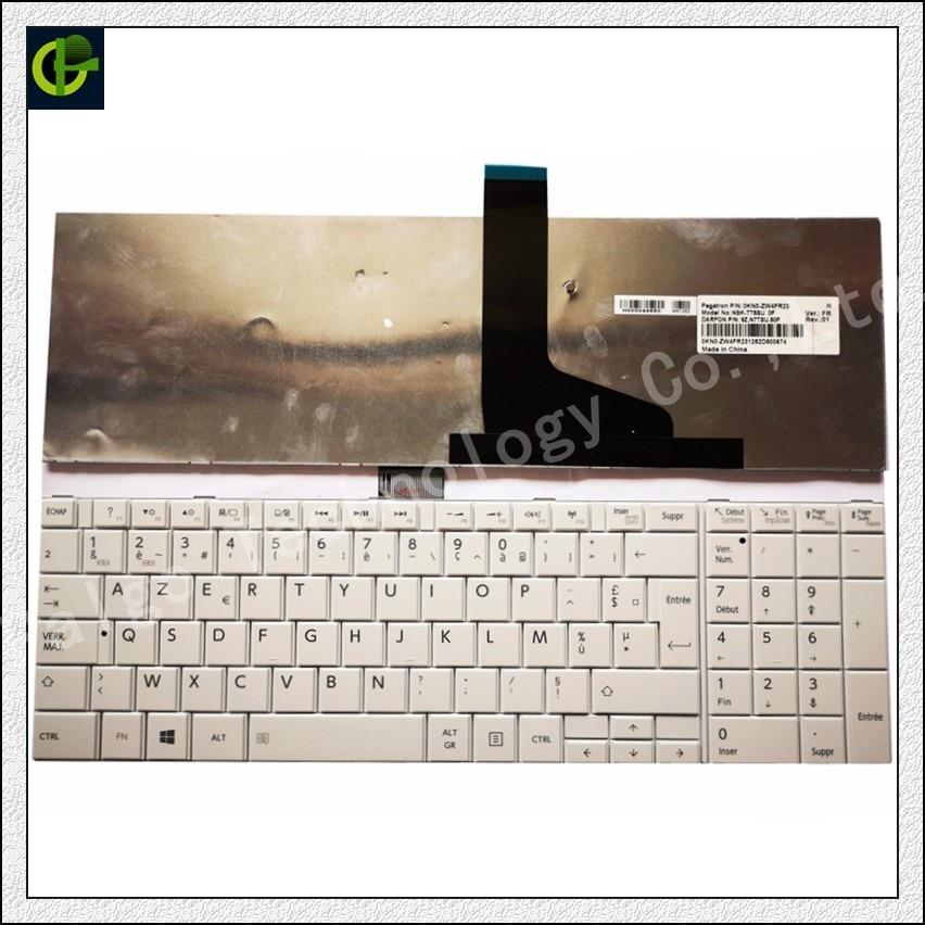 Teclado francés para TOSHIBA MP-11B56F0-9301A 6037B0083613 teclado blanco FR AZERTY
