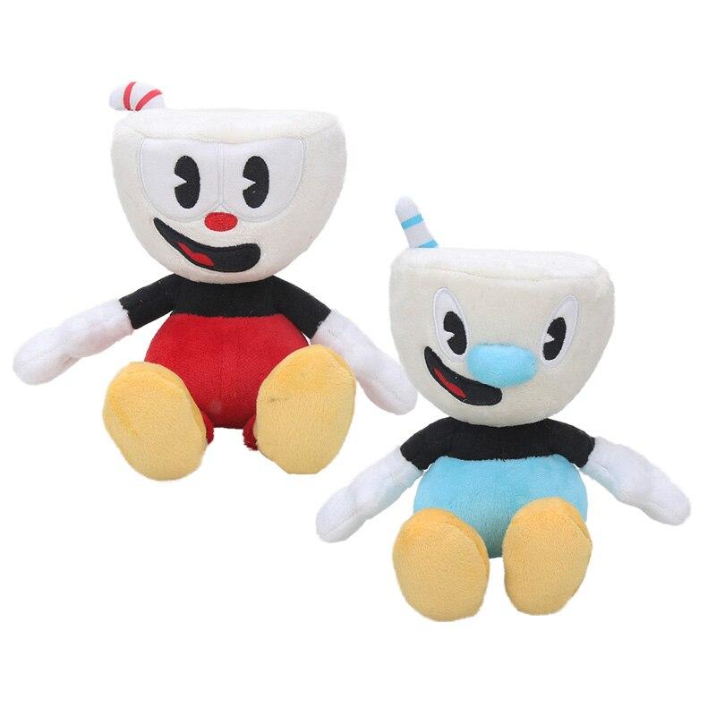 2 шт./компл., Видео-игра, Cuphead, плюшевый Mugman, Boss, Devil, легендарная чаша, мягкая плюшевая кукла, игрушки, подарки для детей