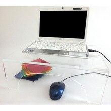 Tables dordinateur portable acryliques simples conçues/table de moniteur de lucite en cristal/tables dordinateur/meubles de salon/ameublement acrylique