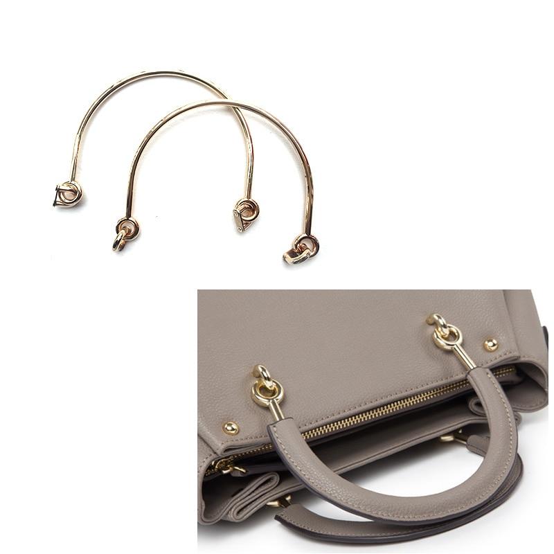 2 asas de aleación para bolsos hechos a mano, bolsos de hombro, partes de bolsos, accesorios DIY de 6 pulgadas