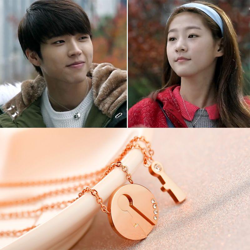 Korean Drama Hi!School Love On Nam WooHyun Couple Necklace Titanium Steel