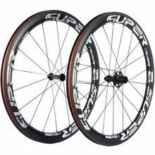 Nouveau vélo de route SUPERTEAM roues en carbone 50mm roues en carbone à pneu choisi 71606 moyeu UD finition mate roue de vélo