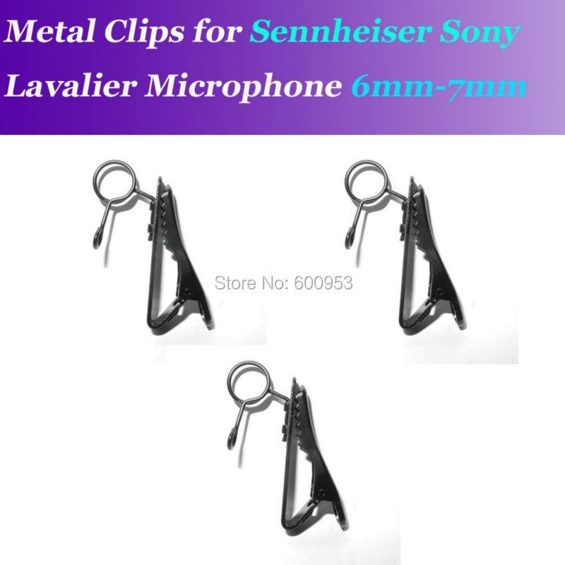 6-7mm clips de micro clip métal remplaçable de rechange pour Sennheiser ME2 Sony V1 D11 Lavalier micros à revers