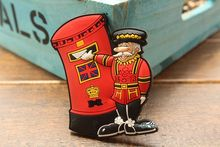 UKs Royal Mail Mailbox Postbode Londen Grappige Rubber Souvenir Koelkastmagneet Gift