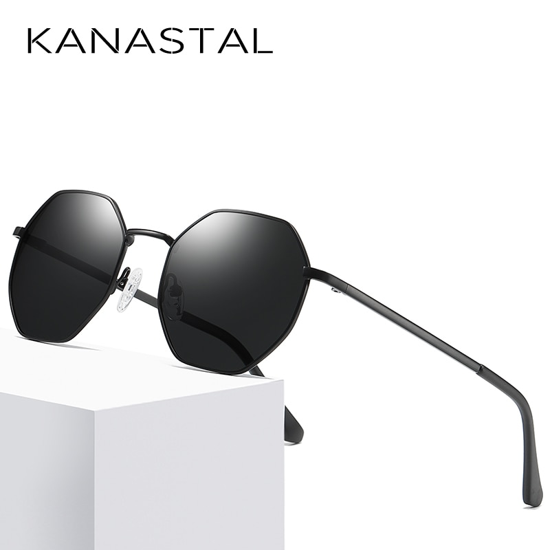 Gafas de sol polarizadas KANASTAL hexágono para mujer gafas de sol Oculos gafas de sol UV400