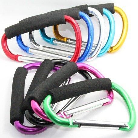 Surtidos 1 piezas grandes Biner ASA mosquetón Clip gancho para llevar bolsas/cables actividades al aire libre, 140 MM #14