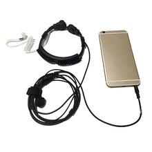 HFES nowy elastyczny mikrofon gardła jack 3.5mm mikrofon Covert akustyczna rura słuchawka zestaw słuchawkowy dla Iphone android moblie telefon